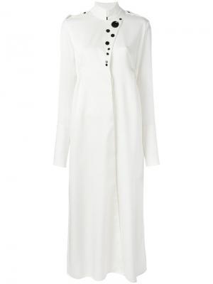 Платье-рубашка с высокой горловиной Ellery. Цвет: телесный