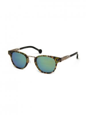 Солнцезащитные очки HS 615S 05 HALLY & SON. Цвет: зеленый, золотистый