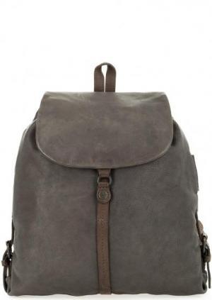 Кожаный рюкзак с тонкими лямками aunts & uncles. Цвет: серый