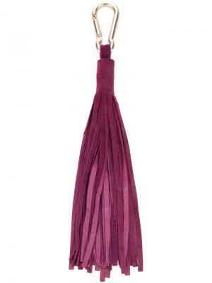 Брелок с кисточкой Antonia Zander. Цвет: розовый и фиолетовый