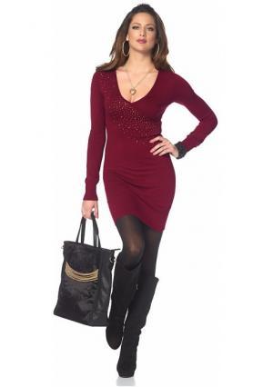 Платье MELROSE. Цвет: бордовый, черный