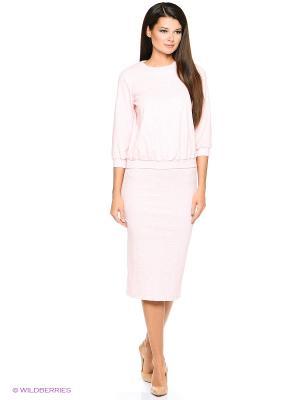 Комплект MARY MEA. Цвет: бледно-розовый, белый