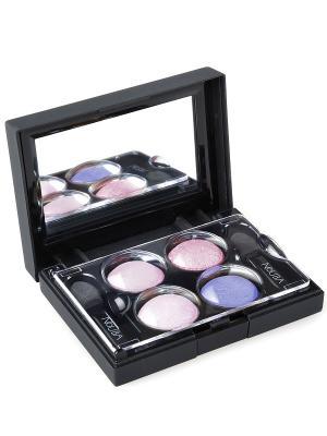 Тени для век КватроQuattro Eyeshadows 608, 2,4г NOUBA. Цвет: бледно-розовый, розовый, белый, фиолетовый