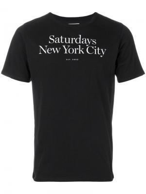 Футболка с логотипом Saturdays Nyc. Цвет: чёрный