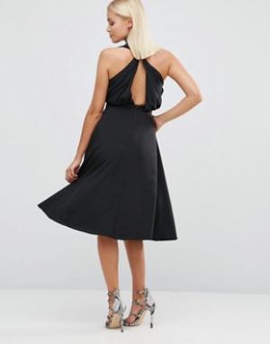 Hedonia Приталенное платье. Цвет: черный