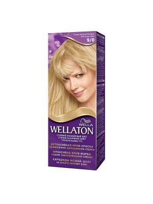 Крем-краска для волос стойкая 9/0 Очень светлый блондин WELLATON. Цвет: фиолетовый