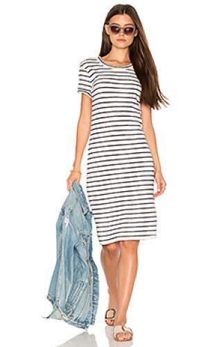 Платье-рубашка в полоску Stateside. Цвет: белый