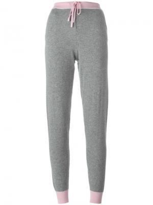 Спортивные брюки дизайна колор-блок Chinti And Parker. Цвет: серый
