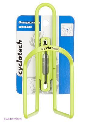Флягодержатель велосипедный Cyclotech. Цвет: зеленый