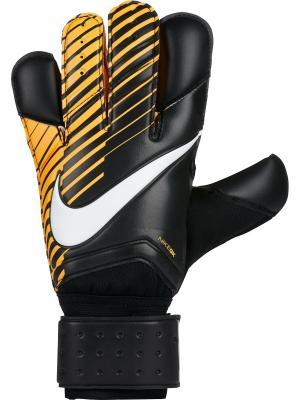 Вратарские перчатки NK GK GRP3 Nike. Цвет: черный, белый, оранжевый