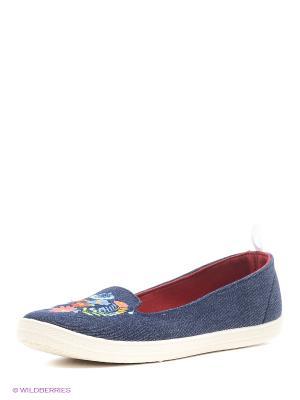 Слиперы CentrShoes. Цвет: синий