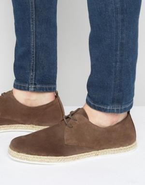 Zign Замшевые эспадрильи на шнуровке. Цвет: коричневый