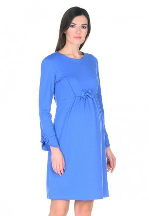 Платье Мама Мила. Цвет: голубой