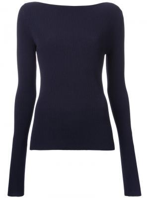 Вязаная блузка Dion Lee. Цвет: синий