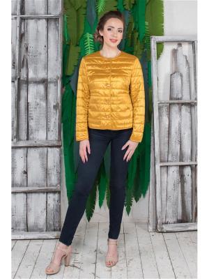 Куртка Кармен Versia. Цвет: золотистый