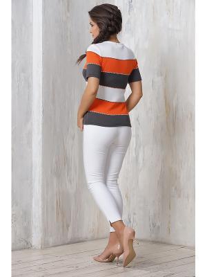 Джемперы VAY. Цвет: антрацитовый,оранжевый,белый
