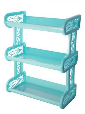 Полка навесная трехсекционная BranQ. Цвет: бирюзовый