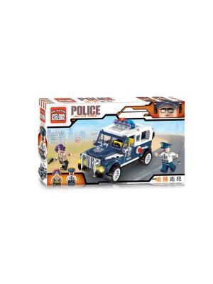 Конструктор Машина Полиция с фигуркой, 148 дет. ENLIGHTEN. Цвет: синий, серый, желтый, белый