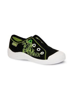 Кеды Befado. Цвет: черный, зеленый