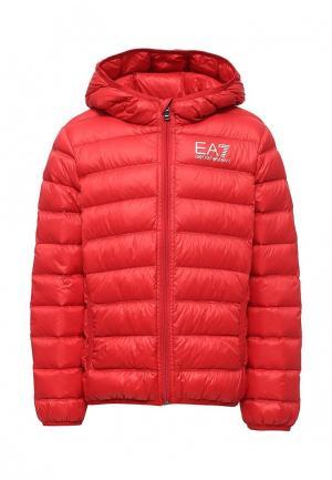 Пуховик EA7. Цвет: красный