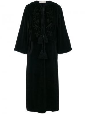 Бархатное платье с вышивкой Veronique Branquinho. Цвет: чёрный