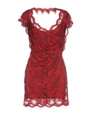 Короткое платье OLVI'S. Цвет: красный