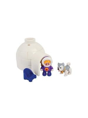 Набор игрушек Иглу Tolo. Цвет: белый