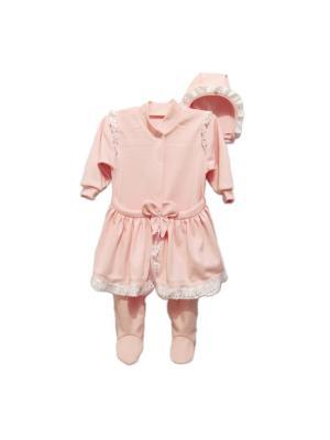 Комплект Агат. Цвет: розовый, белый