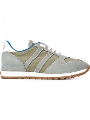 Кроссовки с панельным дизайном Alberto Fasciani. Цвет: серый