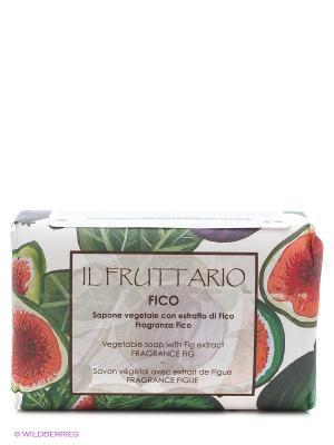 Натуральное мыло с ароматом и экстрактом инжира, 150 гр Iteritalia. Цвет: зеленый