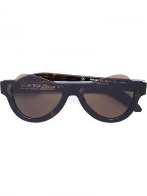 Солнцезащитные очки Mask Y6 Kuboraum. Цвет: чёрный
