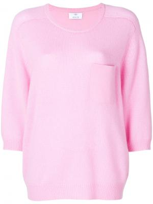 Кашемировый джемпер Allude. Цвет: розовый и фиолетовый