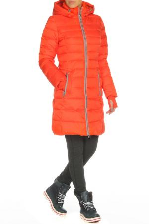 Пальто SNOWIMAGE. Цвет: оранжевый