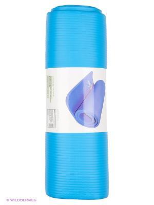 Коврик для йоги STAR FIT FM-301 NBR 183x58x1,2 см, синий 1/6 Starfit. Цвет: синий