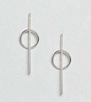Kingsley Ryan Серебряные серьги-подвески. Цвет: серебряный