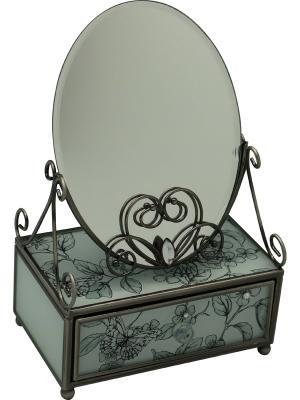 Зеркало со шкатулкой  Эскиз JARDIN D'ETE. Цвет: черный, белый