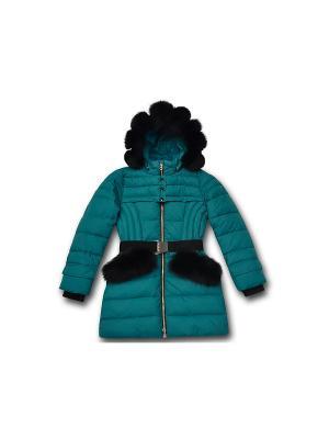Пальто PurosPoro. Цвет: зеленый