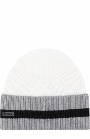 Шерстяная шапка бини Z Zegna. Цвет: белый
