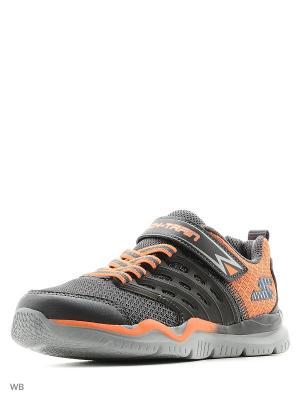 Кроссовки SKECHERS. Цвет: серый, оранжевый