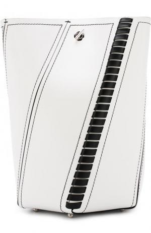 Кожаная сумка Hex Medium с косметичкой Proenza Schouler. Цвет: черно-белый