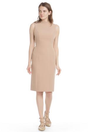 Полуприлегающее платье с открытой спиной HANNY DEEP. Цвет: бежевый