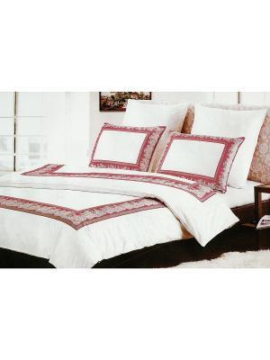 Комплект постельного белья, 1,5 спальный Sofi de Marko. Цвет: белый, розовый