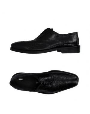 Обувь на шнурках SIMONE MARIOTTI. Цвет: черный
