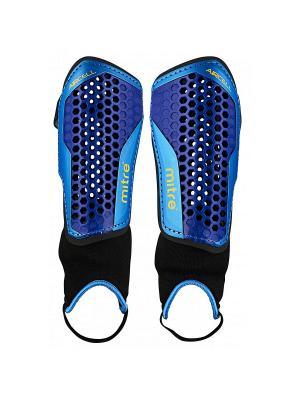 Щитки футбольные MITRE Aircell Carbon с голеностопом. Цвет: темно-синий, голубой, черный
