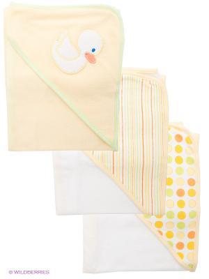 Полотенце, 3 шт. Spasilk. Цвет: светло-желтый, белый