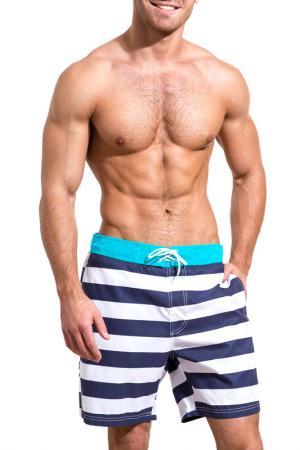 Шорты пляжные ONE HOBBY SWIMWEAR. Цвет: голубой