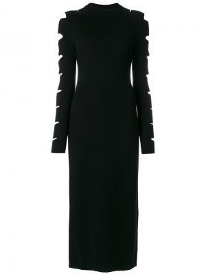 Платье с вырезом Zoe Jordan. Цвет: чёрный