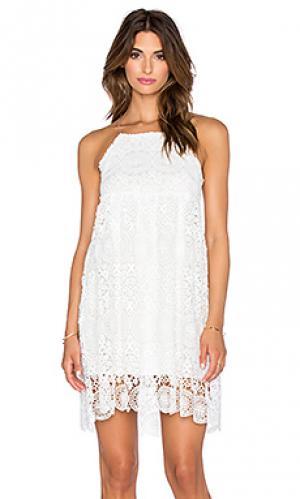 Платье с цветочными кружевами The LDRS. Цвет: белый