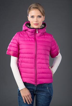 Женская куртка  цвета фуксии AFG. Цвет: фуксия