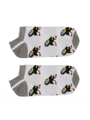 Носки Галчонок короткие Запорожец. Цвет: белый